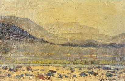 Paul Elie DUBOIS (1886-1949)  Vue du Hoggar....