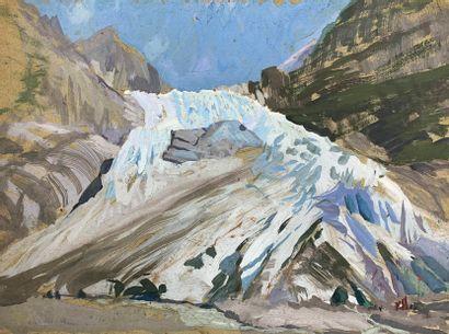 André LAGRANGE (1889-1958)  Le glacier de...