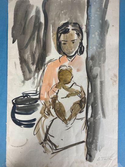 Elisabeth FAURE (1906-1964)  Maternité à...