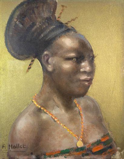 André HALLET (1890-1959)  Princesse Mangbetu....