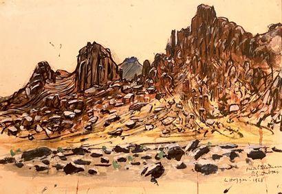 Paul Elie DUBOIS (1886-1949)  Le Hoggar près...