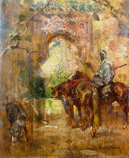 Henri Émilien ROUSSEAU (1875-1933)  Cavalier...