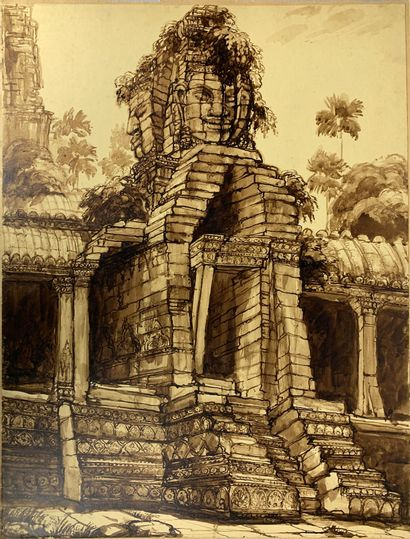 André MAIRE (1898-1984)  Angkor Thom, vers...