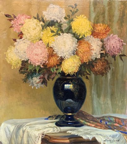 Szabo DEZSÖ (1888-1971)  Bouquet de fleurs...