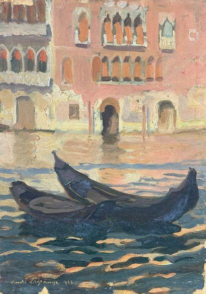 André LAGRANGE (1889-1958)  Les gondoles...