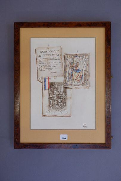 Ecole française du XXe siècle. Nature-morte...