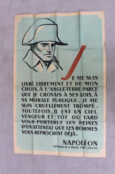 Affiche imprimée en couleurs. Napoléon Mémorial...