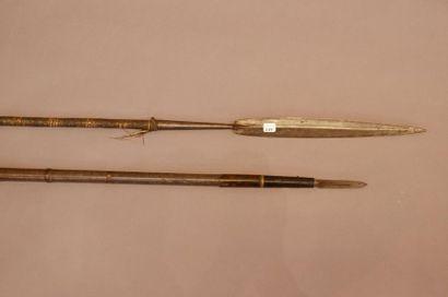 Ensemble de deux armes comprenant une sagaie...