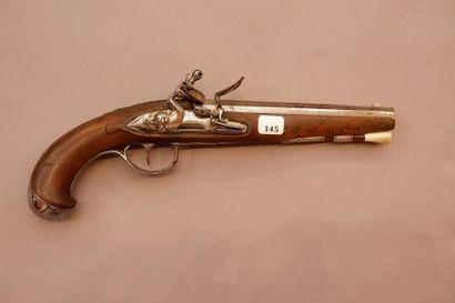 Pistolet d'officier à silex. Vers 1780