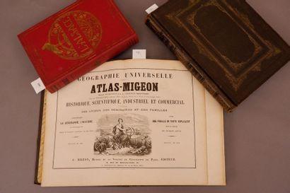 Atlas MIGEON 2 tomes. La France et ses colonies....