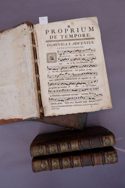 Deux livres de partitions de chants et deux...
