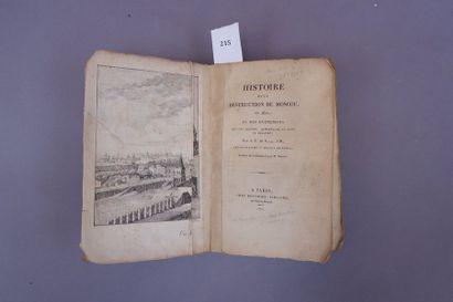 Histoire de la destruction de Moscou en 1812....