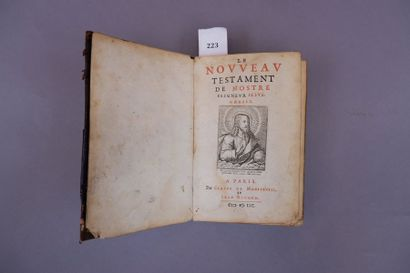 Le Nouveau Testament. Paris, Claude de Montr'oeil...