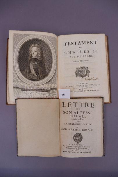 /497 CHARLES II. Testament de Charles II,...