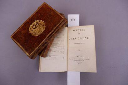 RELIURES du XVIIIème siècle?. 3 volumes in-12,...