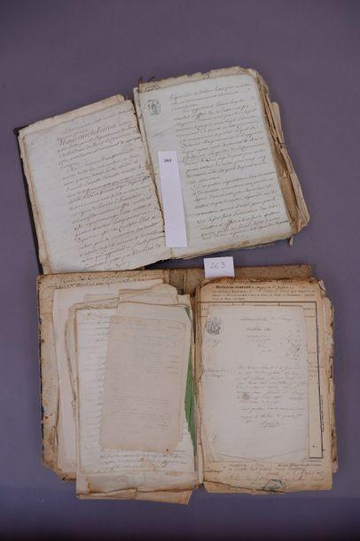 Ensemble de manuscrits dont extraits d'acquêt...
