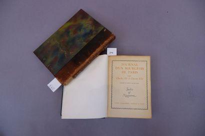 Ensemble de deux livres: Journal d'un bourgeois...