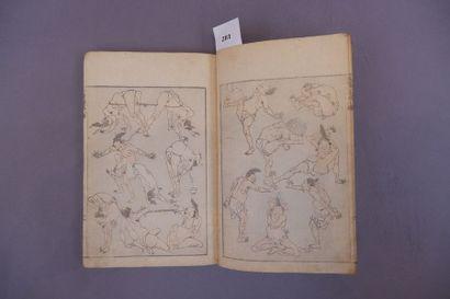 Petit recueil MANGWA de gravures de Hokusai