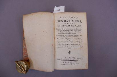 DEGODETS Antoine LES LOIS DES BATIMENTS SUIVANT...