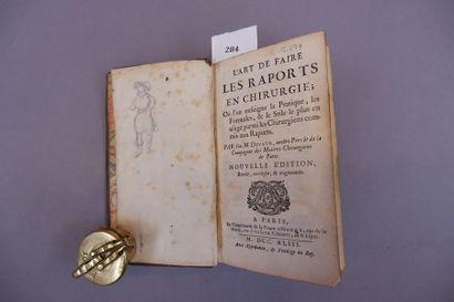 DEVAUX L'ART DE FAIRE LES RAPPORTS EN CHIRURGIE Nouvelle édition. Paris, Vve. D'Houry,...