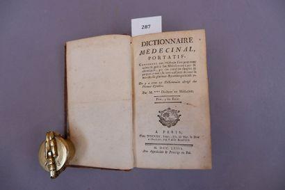 GUYOT Jean DICTIONNAIRE MEDICINAL PORTATIF. On y a joint un dictionnaire abrégé...