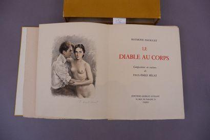 RADIGUET LE DIABLE AU CORPS Illustré de 16...