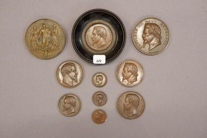 Ensemble de dix Médailles à l'effigie de...