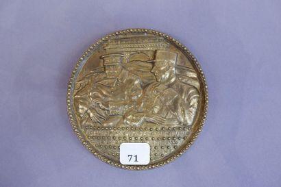 Médaille commémorative de table en bronze...