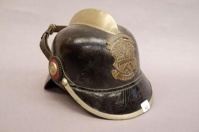 Casque de sapeur-pompier prussien, bombe...