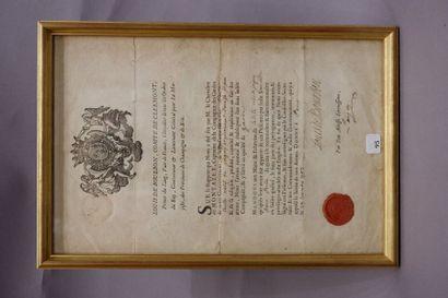 Certificat de garde au nom de Pierre PERILLE....