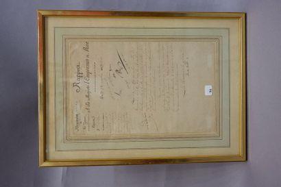 Rapport à sa majesté l'empereur. Lettre manuscrite...