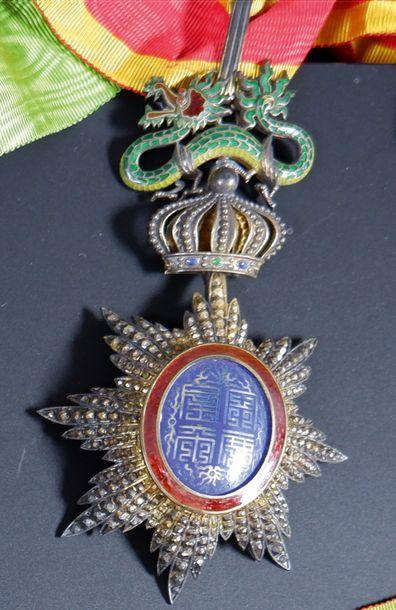 Annam Ordre du Dragon. Étoile de Commandeur....