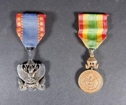 Cambodge Médaille du Roi Sisowath Monivong....