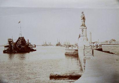 Canal de Suez Lot de 32 tirages albuminés...