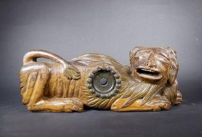 Barre de fermeture de foudre en bois sculpté...