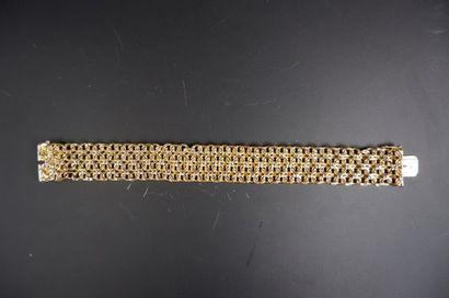 Bracelet en or jaune 18k (750°/°°) à maillons...