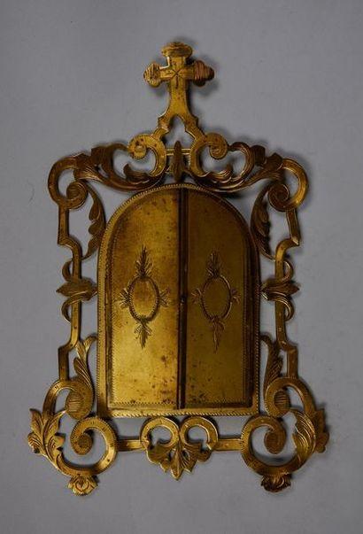 D'après RAPHAEL (1483-1520) Vierge à la chaise. Peinture sur porcelaine, dans un...