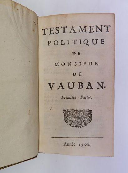 [Pierre LE PESANT DE BOIS-GUILBERT]. Testament...