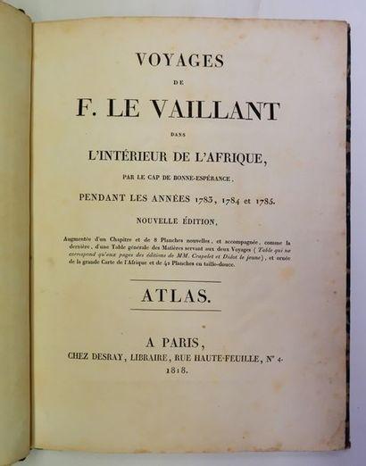 François LE VAILLANT. Atlas pour les Voyages...