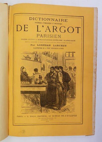 LODERAN LARCHEY. Dictionnaire historique,...