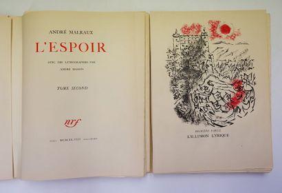 André MALRAUX. L'Espoir. Paris, NRF, 1948....