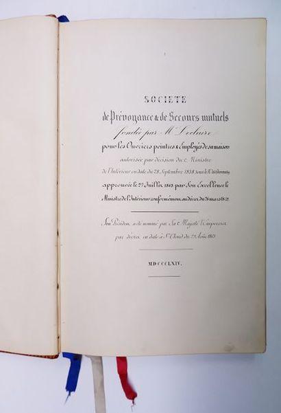 [MANUSCRIT du XIXe siècle]. Livre de la société...