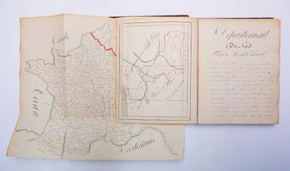 [MANUSCRIT du XIXe siècle]. Atlas de France....