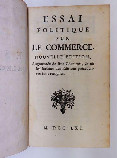 Jean-François MELON. Essai politique sur...