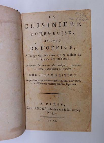 [MENON]. La Cuisinière bourgeoise… Paris,...