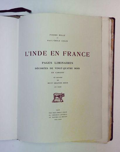 Pierre MILLE. L'Inde en France. Paris, Paul-Emile...
