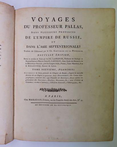 PALLAS. Atlas pour les Voyages dans plusieurs...