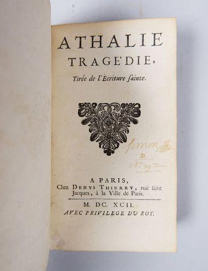 (Jean RACINE). Athalie. Tragédie, Tirée de...