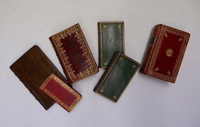 [RELIURES DIVERSES]. 6 volumes in-16. Ensemble...