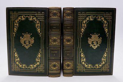 [RELIURE DU XIXe siècle]. 2 volumes in-8,...